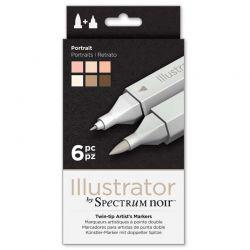 Illustrator Marker Set of 6: Portrait