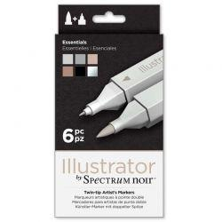 Illustrator Marker Set of 6: Essentials