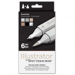Illustrator Marker Set of 6: Essentials