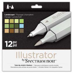 Illustrator Marker Set of 12: Landscape