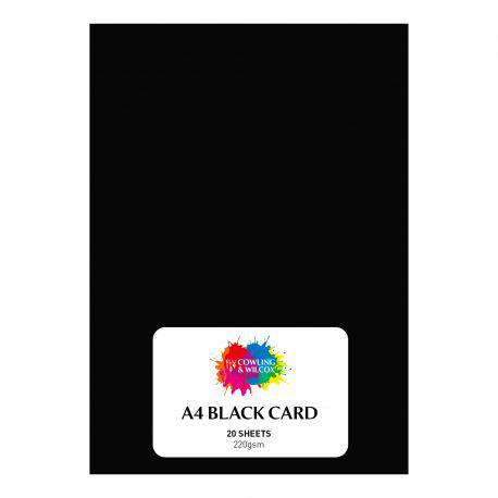 Packs of Black Card (20 Sheets)