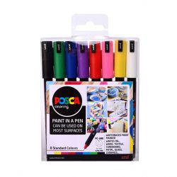 POSCA PC-1MR 8 Pieces Starter Pack
