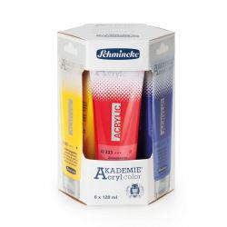 Akademie Acrylic Cardboard Set of 6 x 120ml
