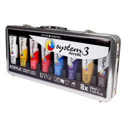 System 3 Suitcase Set 8 x 59ml & Brush