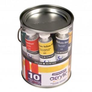 Graduate Acrylic Paint Pot Set 10 x 38ml