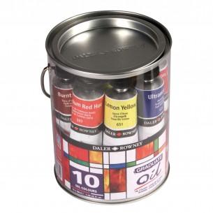 Graduate Oil Paint Pot Set 10 x 38ml