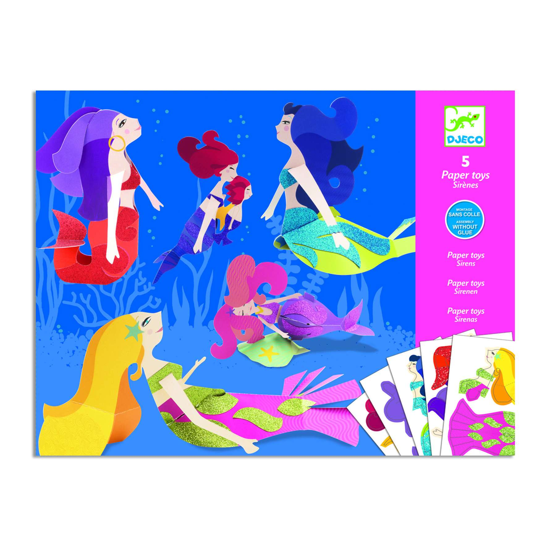 Paper Toys: Mermaids - Cowling & Wilcox Ltd