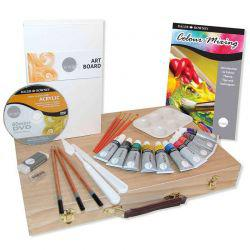 Simply Acrylic Wooden Box Set