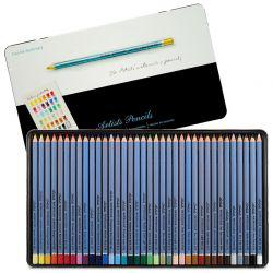 Artists' Watercolour Pencil Tin of 36