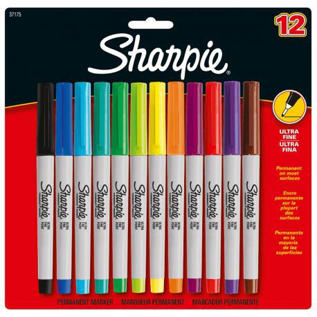 Ultra Fine Marker Set of 12 Assorted Colours