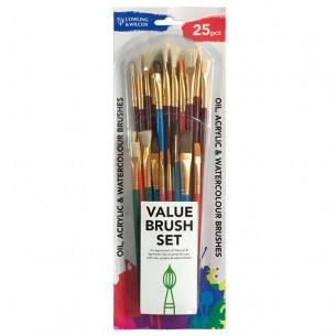 25-Piece Value Brush Set