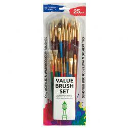 Value Brush Set (25 Pcs)