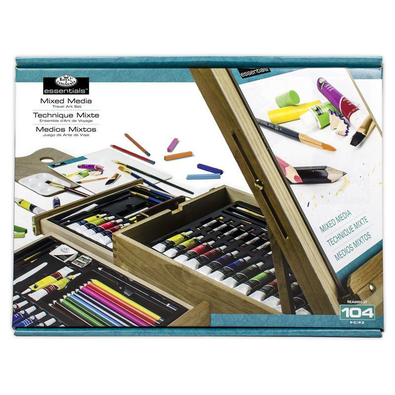 b833b82a55686 Essentials Mixed Media Easel Artist Set (104 Pieces) - Cowling ...