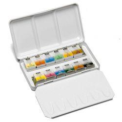 Watercolour Aquarelle Metal Box Set (12 Half Pans)