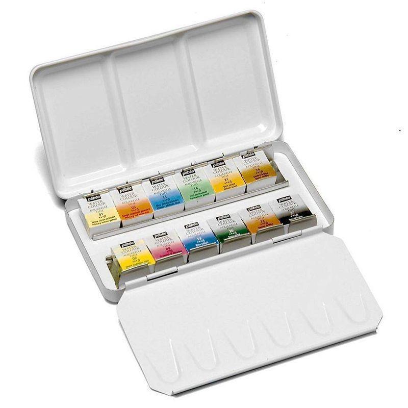 Watercolour Aquarelle Metal Box Set (12 Half Pans)
