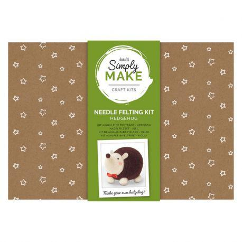 Simply Make Needle Felting Kit: Hedgehog