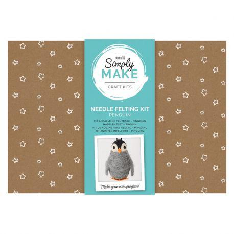 Simply Make Needle Felting Kit: Penguin