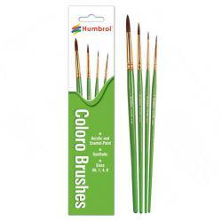 Paint Brush Set 4 Coloro Synthetic