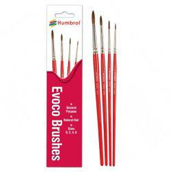 Paint Brush Set 4 Evoco Natural