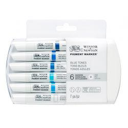 Pigment Marker Set of 6 Blue Tones