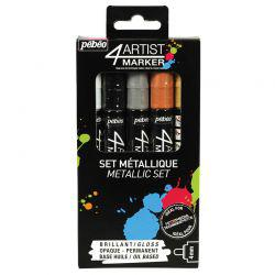 4Artist Marker Metallic Set of 5 (4mm Nibs)