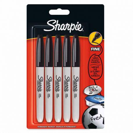 Fine Black Markers (Pack of 5)