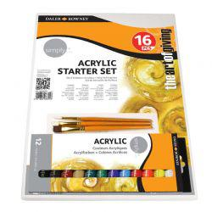 Simply Acrylic Starter Set (16 Pcs)