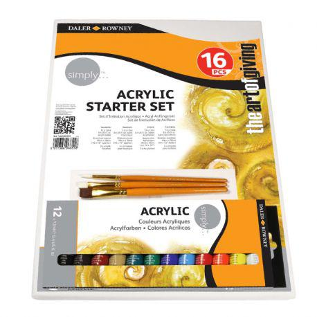 Simply Acrylic Starter Set of 16 Pieces