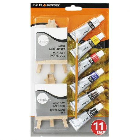 Simply Acrylic Mini Canvas & Easel Set