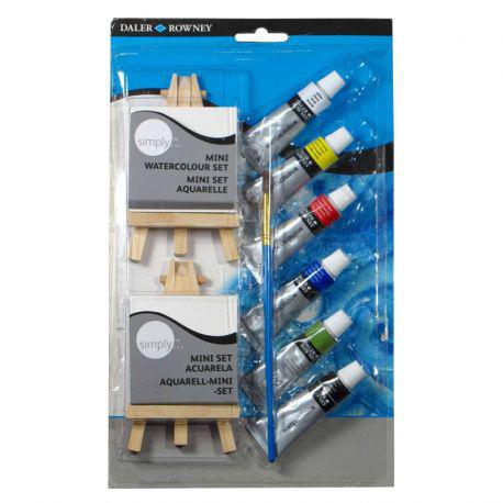 Simply Watercolour Mini Canvas & Easel Set