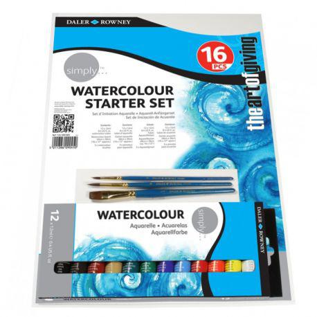 Simply Watercolour Starter Set of 16 Pieces