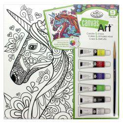 Canvas Art Painting Set: Unicorn