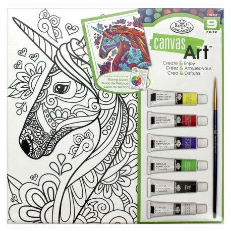 Canvas Art Painting Set: Unicorn