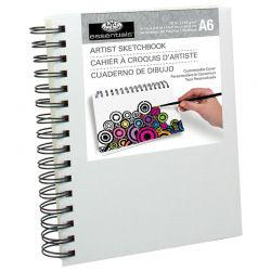 Canvas Covered Sketchbook (A6)