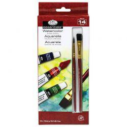Essentials Artist Paint Pack: Watercolour (12 x 12ml + Brushes)