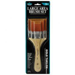 Large Area Brush Set: Acrylic Flat