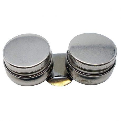Twin Metal Dipper With Lid