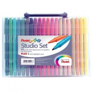 Arts Felt Tip Studio Set (35 Pens)