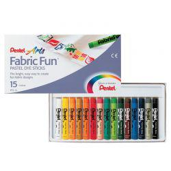 Arts Fabric Fun Pastel Dye Sticks (15 Colours)