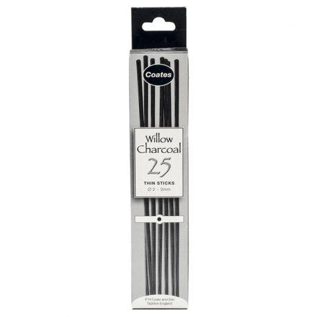 Willow Charcoal: Thin (25 Sticks)