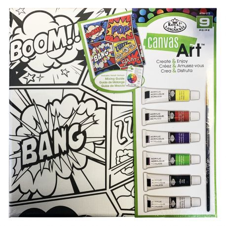 Canvas Art Painting Set: Comic