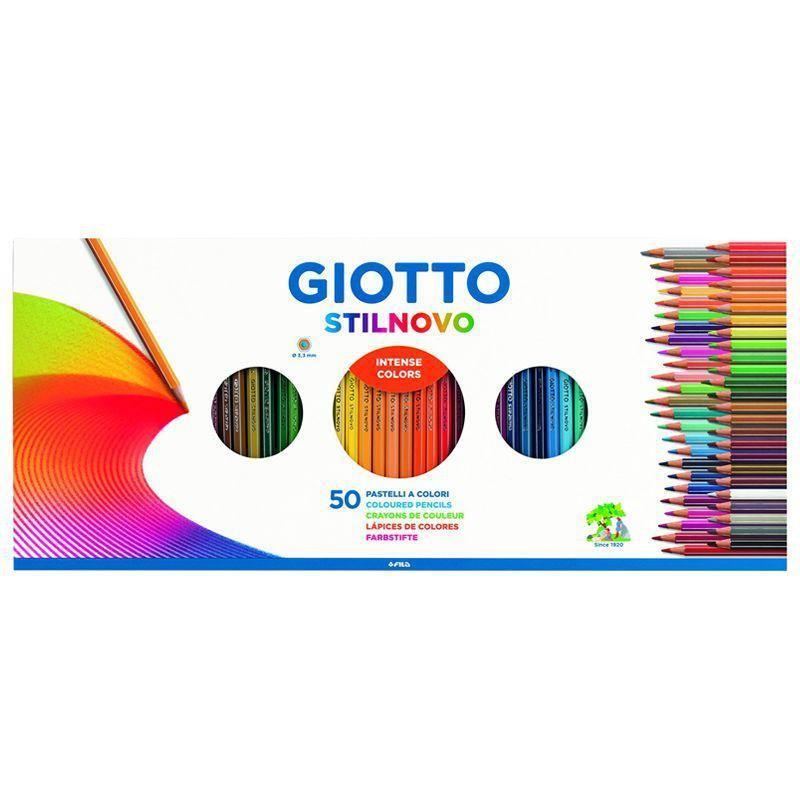 Giotto Stilnovo Pencil Box of 50 + Sharpener