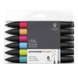 BrushMarker Set of 6 Mid Tones