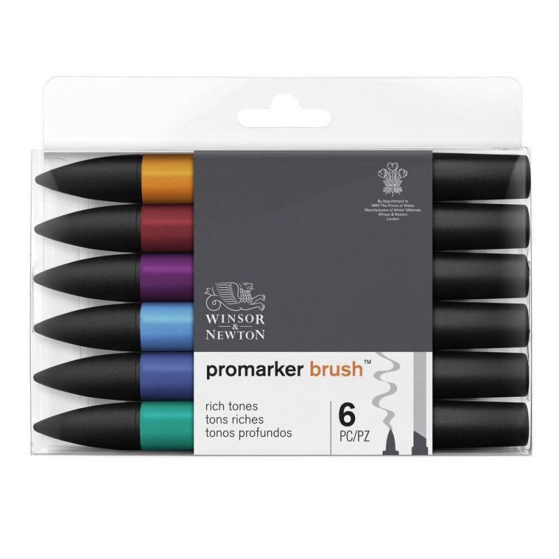BrushMarker Set of 6 Rich Tones