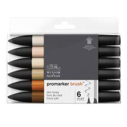 BrushMarker Set of 6 Skin Tones 1