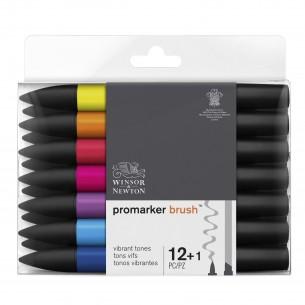 ProMarker Brush Vibrant Tones (12 Markers + Blender)