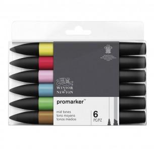 ProMarker Mid Tones (Set of 6)