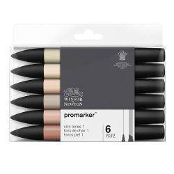 ProMarker Pack of 6 Skin Tones Set 1
