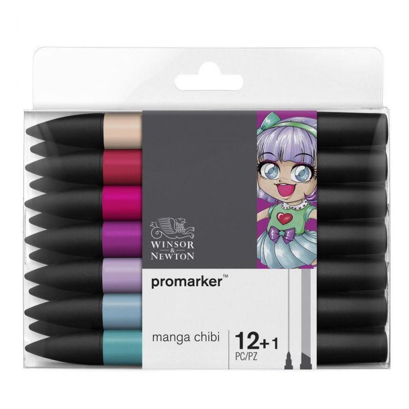 ProMarker Manga Chibi Set (12 Markers + Blender)