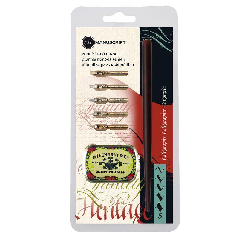 Round Hand Calligraphy Dip Pen Set 1
